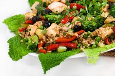 Salmon and Spelt Warm Winter Salad: 'It's a new year and time for something healthy and light. How about a warming salad. Family Recipes, Family Meals, Mini Potatoes, Cabbage Leaves, Winter Salad, Cooking For Two, Time To Eat, Healthy Salads, Salmon