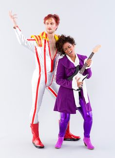 this diy david bowie and prince couples costume will give you all the feels