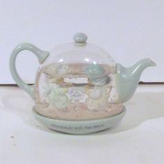 "Vintage 1989 Precious Moments ""Friendship Hits The Spot"" Teapot Snow Globe | eBay"