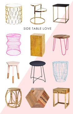 Side Table Love for the nursery | http://www.bhg.com/blogs/better-homes-and-gardens-style-blog/2014/04/22/side-table-love-for-the-nursery/