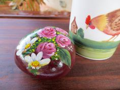 Roses and Lilies on Art Rock