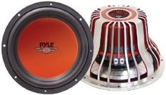 """PYLE PLW12DREN 12-Inch 2000 Watt Die-Cast Aluminum DVC Subwoofer by Pyle. $90.14. Pyle's Red Label speakers don't just sound great – they also look stunning. This 12"""", 2000-watt subwoofer with dual voice coils will give your sound system a massive bass boost, and it's housed in an impressive package. A die-cast aluminum frame supports the red CD wave electro-plated cone to reproduce the booming bass. The specially treated foam edge suspension keeps your speaker secure..."""