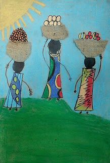 Celebrate Africa with this beautiful art project: African Kanga Compositions.