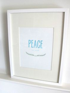 Peace on Earth Art Print Holiday Art Print by PaperParadeCo, $18.00