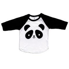 Kawaii Panda Baseball T