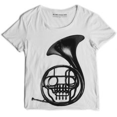 FRENCH HORN WHITE T | As The Music Dies