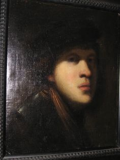 Rembrandt painting of his self portrait Rembrandt Self Portrait, Rembrandt Paintings, Dutch Painters, Artsy Fartsy, Printmaking, Oil On Canvas, Old Things, Van, Artwork