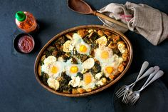 NYT Cooking: Green Strata with Goat Cheese and Herbs
