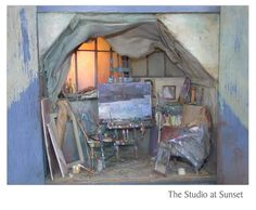 Miniatures, art studio. Sans Robinson