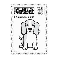 Cavalier King Charles Spaniel Dog Cartoon Postage