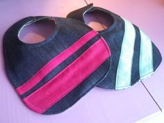 Denim Bib - Custom Made Jean Crafts, Custom Made, How To Look Better, Baby Kids, Sewing Projects, Recycling, Cross Stitch, Denim, Crochet