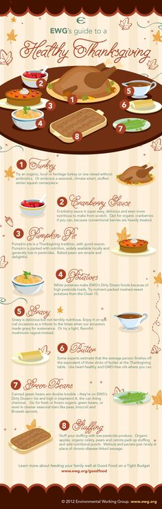 The Eco-friendly Guide to a Healthy Thanksgiving Meal | The Momiverse | Infographic, environmental awareness, healthy eating, nutrition