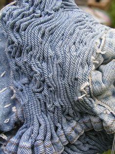 Textile Textures through Fabric Manipulation - dimensional patterns & texture creation