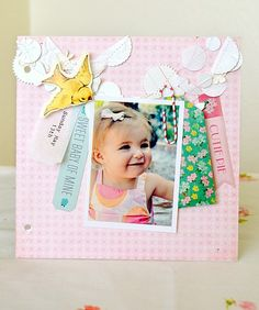 Little Bo Peep mini album by Tara featured on the Crate Paper blog. LOVE!!