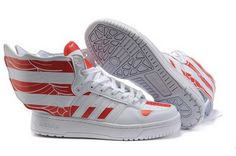 Adidas Jeremy Scott Wings 2.0 USA Flags Red Glow In The Dark