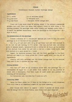 Porridge and Potatoes: Mämmi recipe