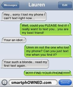 This is so funny!! Not to be critical, but the girl who said she was dumb spelled you're like your.  Just saying!