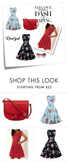 """""""Rosegal 30/II"""" by nermina-okanovic ❤ liked on Polyvore featuring Post-It, KC Jagger, vintage and rosegal"""