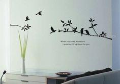 Wall Sticker: Birds with blanch
