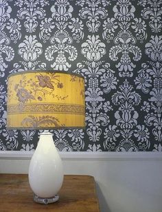 damask-wall-stencil-delicate-floral