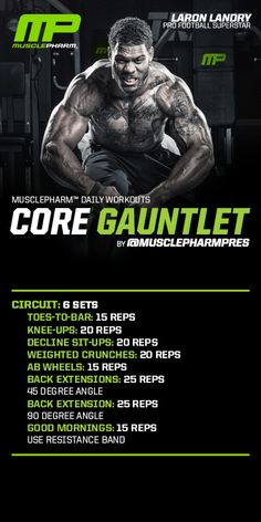Core Gauntlet #musclepharm workout