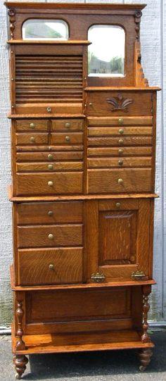 Dental Cabinet Archive, BRASS LANTERN ANTIQUES