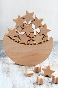 Space Themed Balance Toy - Wooden game  - Moon Star Rocket - Educational balancing set (scheduled via http://www.tailwindapp.com?utm_source=pinterest&utm_medium=twpin&utm_content=post99696699&utm_campaign=scheduler_attribution)