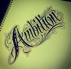 Ambition tattoo sketch.