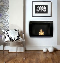 bedroom wall mounted fireplace