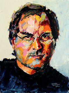 Steve Jobs Original Portrait of Innovation Oil Painting | © Derek Russell