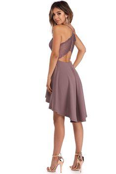 Lavender Dream In Lace Dress