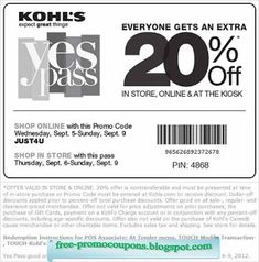 It looks like you're interested in our Kohls Coupons 20 Off Everything. We also offer many different Kohls Coupons on our site, so check us out now and get to printing! Kohls Printable Coupons, Printable Cards, Free Printables, Printable Templates, Kohls Promo Codes, Lowes Coupon, Discount Coupons, Coupon Deals, Coupon Codes