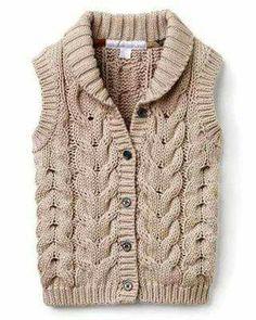 Neşe'nin gözdeleri Baby Cardigan Knitting Pattern Free, Baby Boy Knitting Patterns, Beginner Knitting Patterns, Knit Vest, Knitting For Kids, Hand Knitting, Half Jacket, Baby Shirts, Knit Fashion