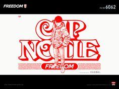 Instant noodle ad, illustrated by Katsuhiro Otomo who is the author of AKIRA(graphic novel / animated movie)