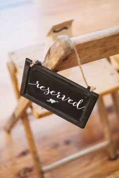 rustic wedding reserved signs / shabby and by SequinsAndLaceDesign