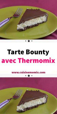 Tarte Bounty avec Thermomix - The Best Simple Recipes Gourmet Cupcake Recipes, Gourmet Dinner Recipes, Thermomix Desserts, Pureed Food Recipes, Gourmet Recipes, Dessert Recipes, Gourmet Meals, Gourmet Popcorn, Popcorn Recipes