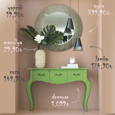 https://bit.ly/2qE1pQb  #tmall_home #eve_tasarımla_dokunuş #home #evdecor #mobilya #antre #ayna #aksesuar #мебель #аксессуары