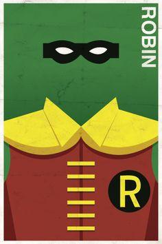 Les affiches minimalistes vintage de super-héros par Michael Myers