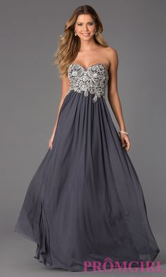 Image of Floor Length Strapless Sweetheart Dress Style: JO-JVN-JVN20365 Front Image