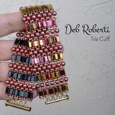 Tila Cuff beaded pattern tutorial by Deb Roberti