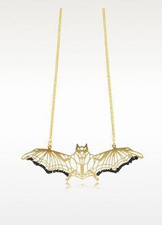 Les Nereides Empreintes Bat Long Necklace