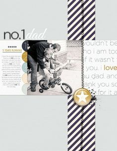 family scrapbooking layout
