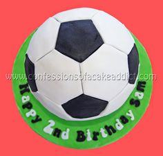 Last weekend I got to try another very fun cake design – a soccer ball cake – for my best friend's 2-year-old's birthday. I was so happ...