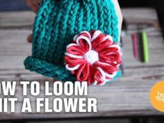 How to Loom Knit a Flower