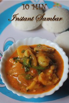 : Instant Sambar Recipe - 10 Min Sambar Recipe with Gram Flour