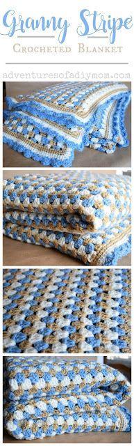 Granny Stripe Crocheted Blanket