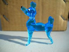 "Poodle Dog Hand Blown Glass Miniature Figurine Vintage Japan 2 1 4"" | eBay"