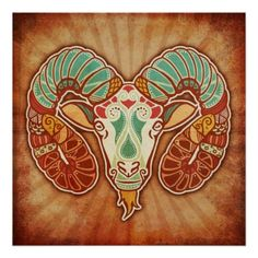 Illustration about Decorative grunge ornament of the zodiac sign Aries. Illustration of nostalgia, dirty, illustration - 15826656 Aries Taurus Cusp, Aries Ram, Aries Sign, Zodiac Signs Aries, Virgo Moon, Zodiac Art, Astrology Zodiac, Geometric Tattoo Ram, Art Zodiaque