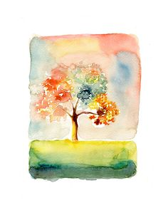 Happy day Print  from my original watercolor painting 8x10 inch