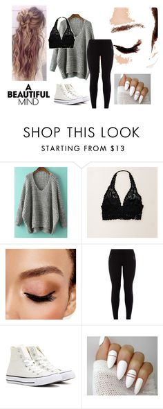 comfy!! by deedeelove16 on Polyvore featuring Aerie, New Look, Converse and Avon